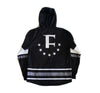 Faceoff Hockey Jersey Hoody in Black