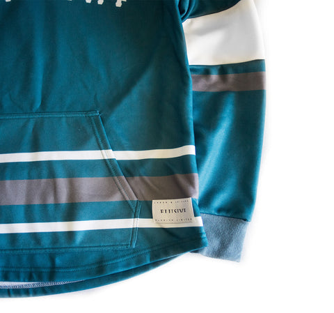 Faceoff Hockey Jersey Hoody in Teal