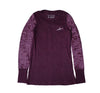 Script Burnout L/S Tee in Purple (Womens) - Elusive