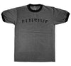 Hardball Ringer Tee in Charcoal Heather - Elusive