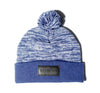 Horizon Marbled Pom Beanie in Navy - Elusive