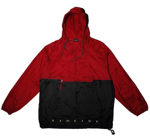 Vertigo Windbreaker Jacket in Red/Black