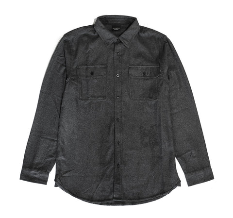 Jackson Flannel L/S Shirt in Charcoal