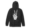 Peace & Death Zip Hoody in Black - Elusive