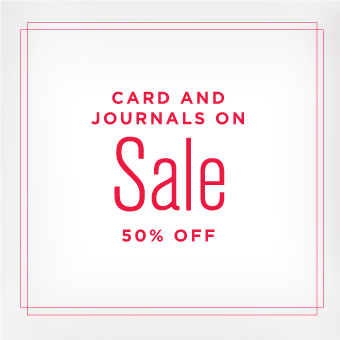 Cards and Journals on Sale for 50% Off
