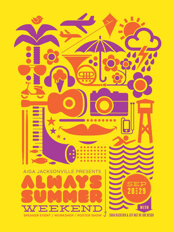 AIGA Always Summer Weekend Poster