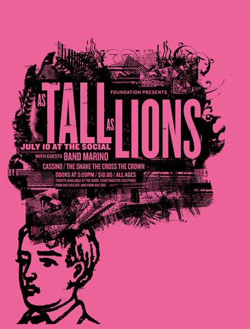 As Tall As Lions Music Gig Poster