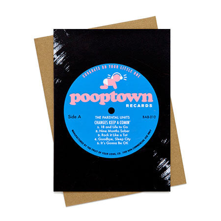 Pooptown Recards Baby Card