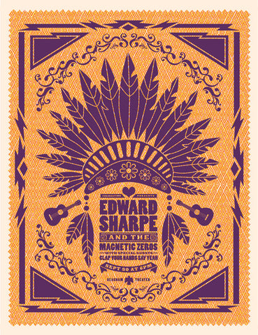 Edward Sharpe Music Gig Poster
