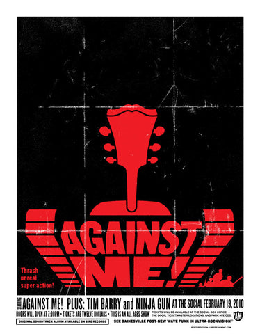 Against Me! Music Gig Poster