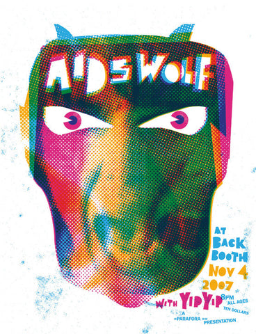 Aids Wolf Music Gig Poster