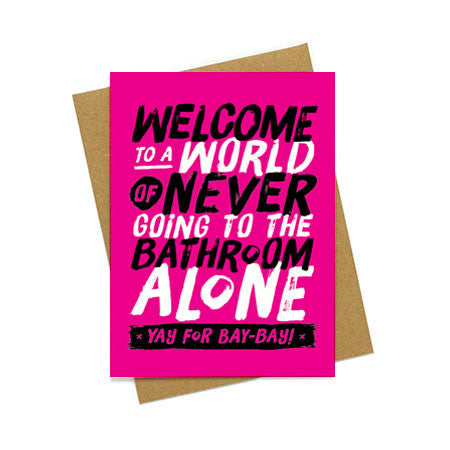 New Baby Bathroom Buddy Greeting Card