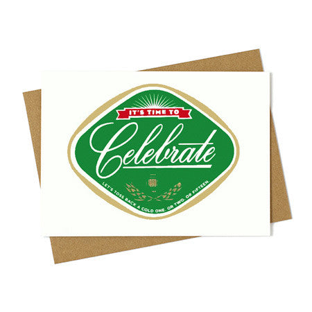 Beer Label Celebrate Card