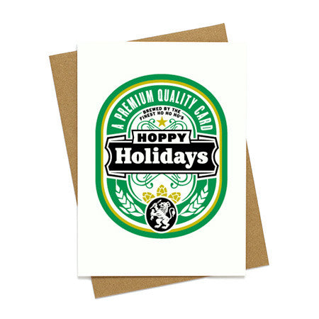 Hoppy Holidays Beer Card