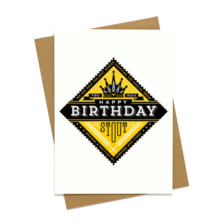 Birthday Stout Beer Card