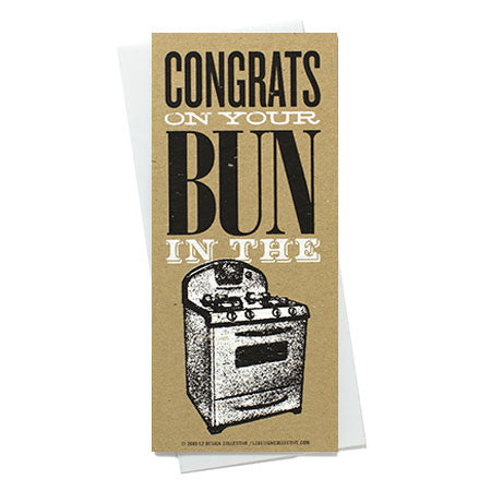Bun in the Oven Baby Shower Card