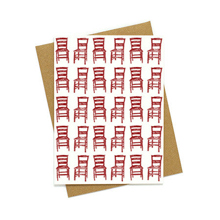 Multiple Chairs Greeting Card