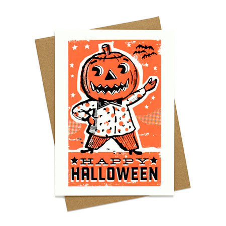 Pumpkin Man Halloween Card