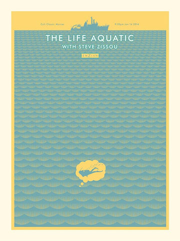 The Life Aquatic - Yellow and Blue Waves