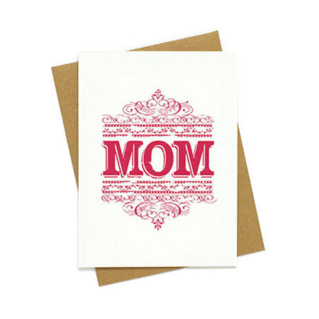 Vintage Scrollwork Mother's Day Card