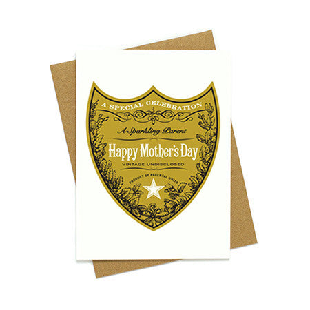 Mother's Day Champagne Label Card