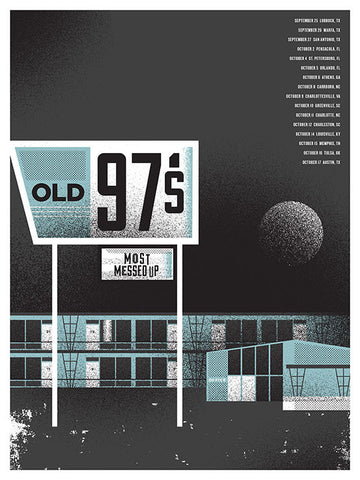 Old 97's Hotel Music Gig Poster