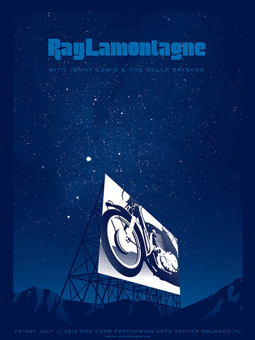 Ray Lamontagne Music Gig Poster