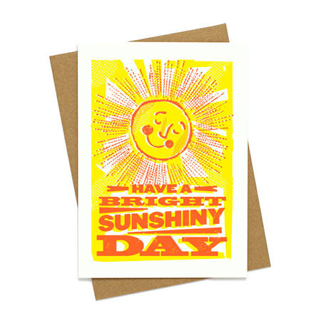 Bright Sunshiny Day Greeting Card