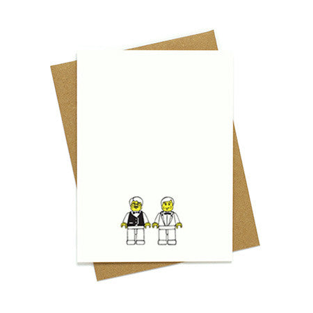 Toy Groom and Groom Wedding Card