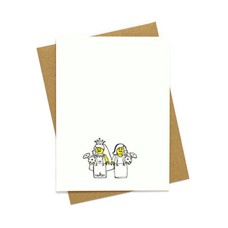 Toy Bride and Bride Card