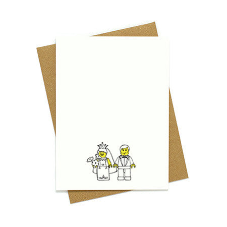 Toy Bride and Groom Card
