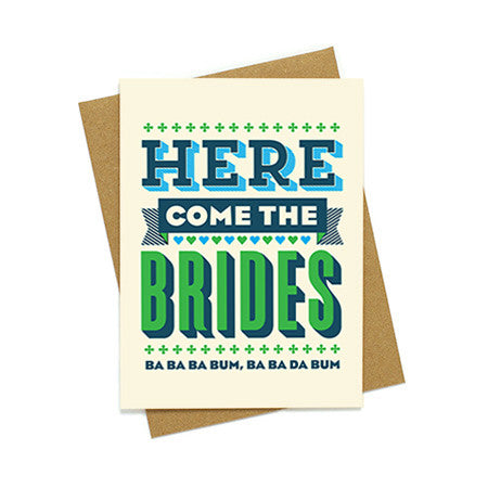 Here Come The Brides Card
