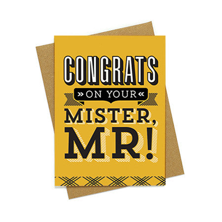 Congrats on Your Mister Card