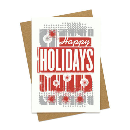 Happy Holidays Retro Card