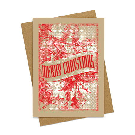 Merry Christmas Holly Card