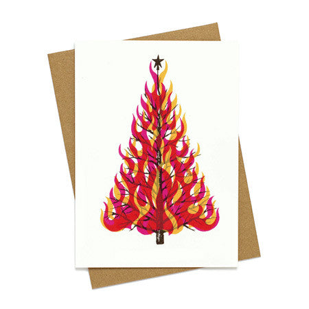 Flaming Tree Holiday Card