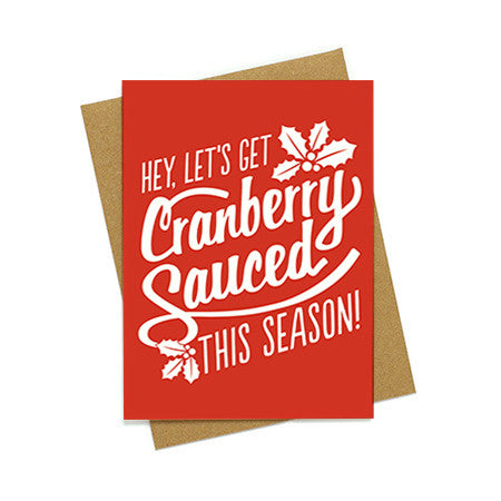 Cranberry Sauced Holiday Card