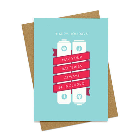 Batteries Included Holiday Card