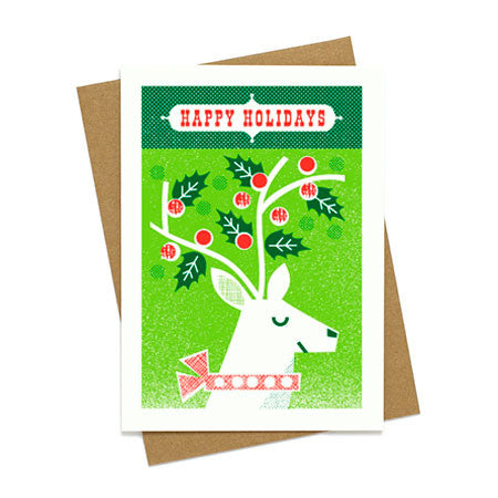 Happy Holiday Reindeer Card