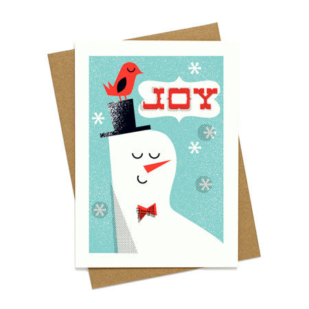 Joy Snowman Holiday Card