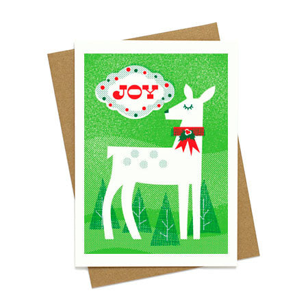 Joy Doe Vintage Greeting Card