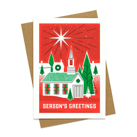 Season's Greeting Chapel Holiday Card