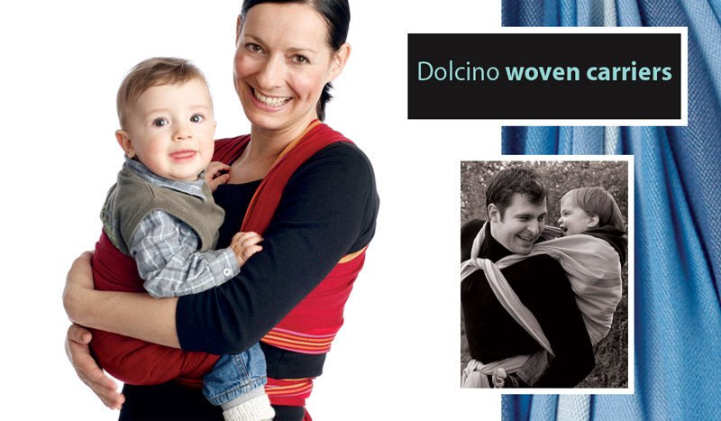 Dolcino woven carriers distributed by MOBY baby carriers