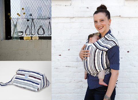 Lotta Redig Wrap and carrier pouch! Made by the Comfortable Carrier Company