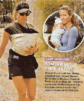 Sheryl Crow goes for a hike in a Moby D