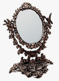 Cast Iron Bird & Vine Tabletop Mirror