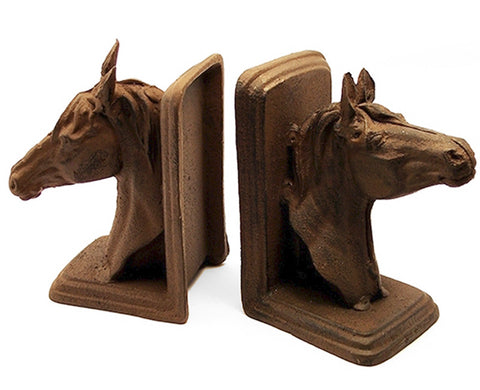 Cast Iron Horse Head Bookends - Domestic Platypus