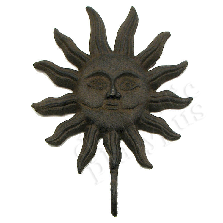 Cast Iron Large Sun Face Wall Hook - Domestic Platypus