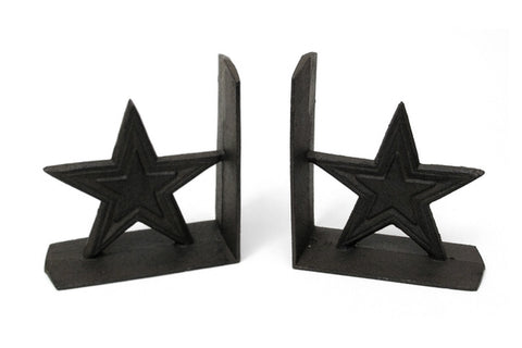 Cast Iron Star Bookends