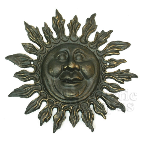 Garden Gods Cast Iron SUN FACE Plaque - Domestic Platypus